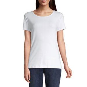 St Johns Bay Womens Crew Neck Short Sleeve T-Shirt